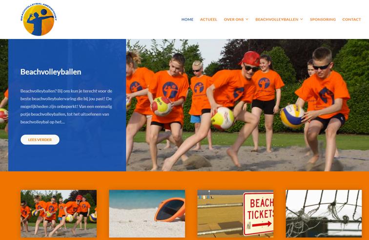 Website Stichting Beachvolleybal Amersfoort